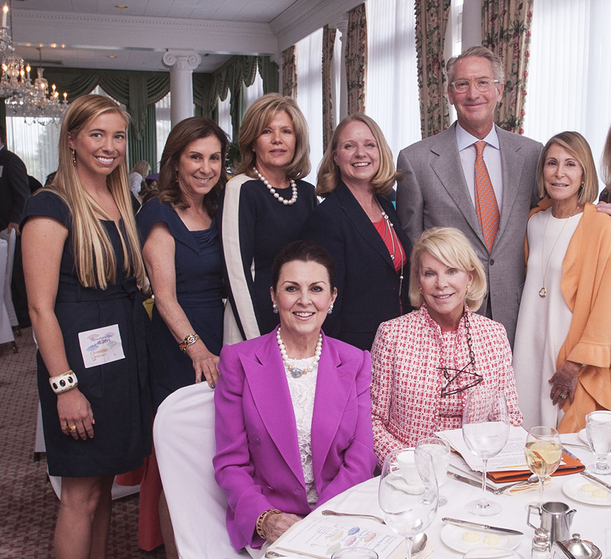 Liza Long with luncheon guests including Craig and Frances Lindner