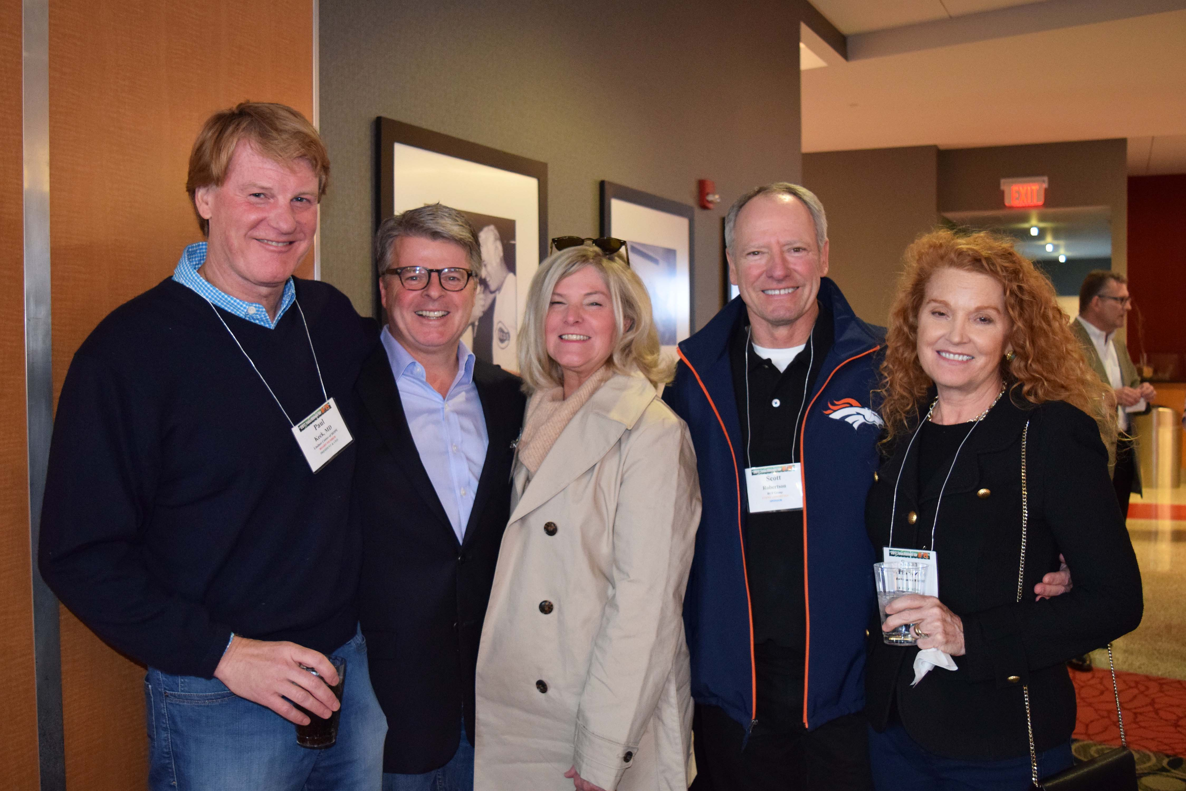 Dr. Paul Keck, Jr., John Ryan, Pat Ryan, Scott Robertson and Dr. Susan McElroy