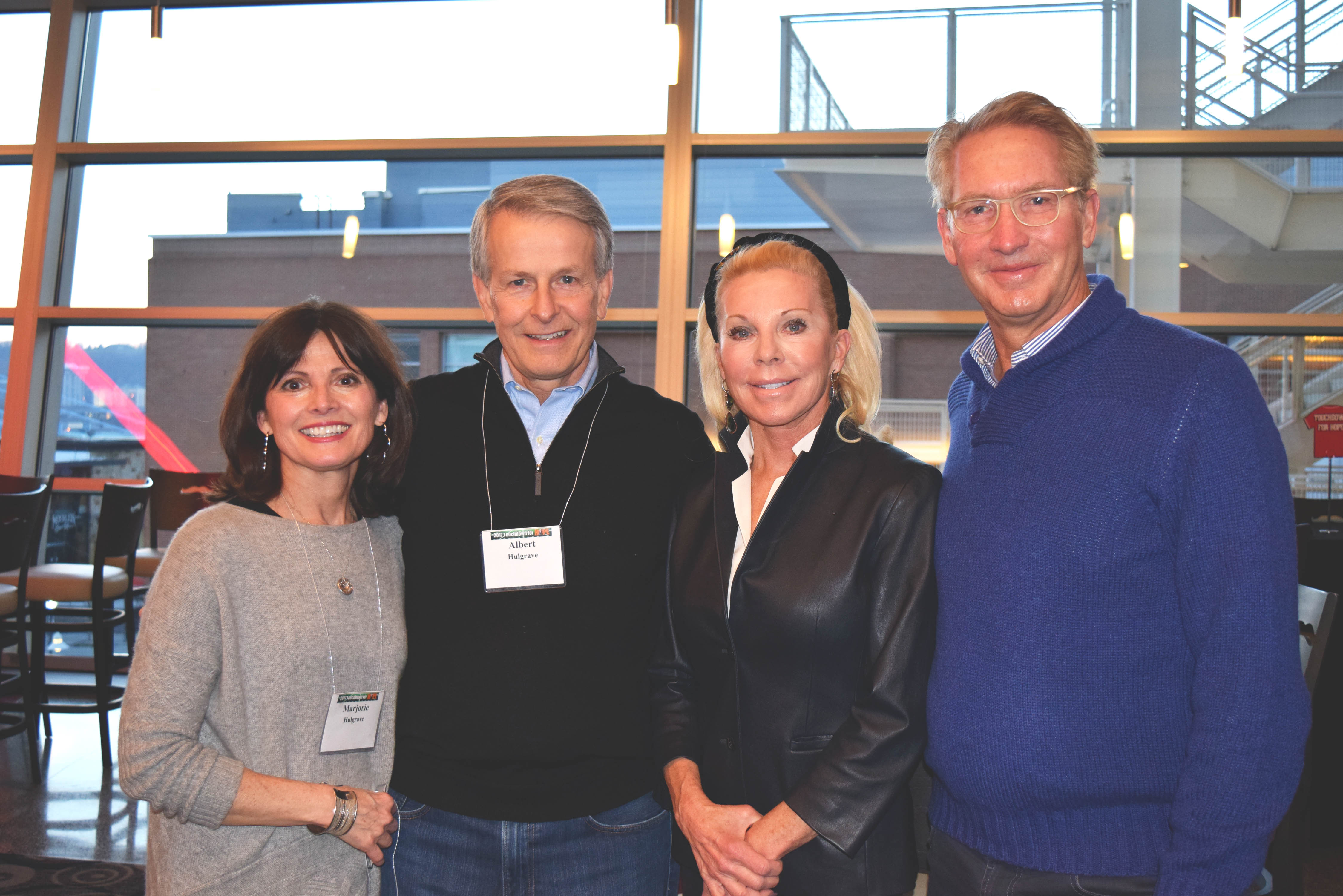 (l-r) Marjorie Hulgrave, Albert Hulgrave, Frances Lindner and Craig Lindner attended Touchdown for HOPE.